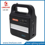 Drei 3W Sonnenkollektor USB-Handy-Ladung-MP3-Player-Ausgangssolarbeleuchtungssystem der Birnen-3W