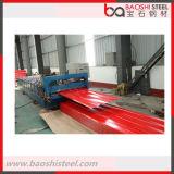 Folhas de alumínio onduladas revestidas do PVC do aço de Baoshi