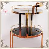 Chariot de portion de vin d'hôtel de chariot de boissons de meubles d'acier inoxydable de chariot à barre du chariot à boisson alcoolisée (RS150502)