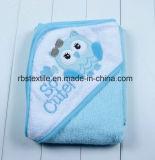 Полотенце ванны хлопка с капюшоном для младенца