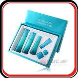 Rectángulo cosmético de empaquetado de papel de sellado caliente de encargo de la insignia