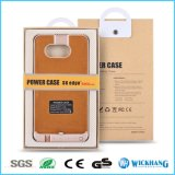 Couverture de chargeur de cas de recul de batterie de côté de pouvoir pour le bord de la galaxie S6 de Samsung plus