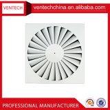 Diffuseur carré en aluminium d'air du plafond 4-Way de fournisseur de la Chine