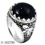 Neues Modell-Silber-Schmucksache-Ring für Mann mit Zircon