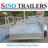 Acoplados galvanizados 10*6 en tándem del ganado de la jaula del rectángulo