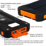 O banco solar 10000mAh da potência do carregador Dual Dust-Proof Chuva-Resistente do diodo emissor de luz do USB e Shockproof claros