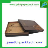 Rectángulo de regalo de empaquetado rígido modificado para requisitos particulares del papel de embalaje de la joyería de la tapa