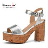 (Donna-in) Form-Art-starke Absatz-Frauen-Korken-Plattform-Sandelholze