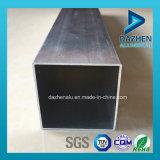 La extrusión de aluminio perfil de la plaza rectangular Tubo tamaño personalizado