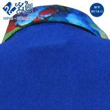 Le bouton de Multi-Configuration de bleu d'océan Tournent-Vers le bas le chemisier mince élastique de collier
