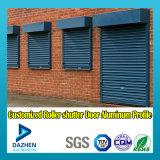 Profil en aluminium d'extrusion de guichet de porte d'obturateur de rouleau de prix bas du marché de l'Afrique Nigéria