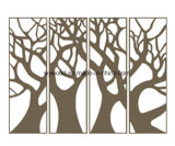 新しい現代木によって切り分けられる装飾的なパネル