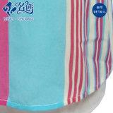 Kleurrijke de v-Halslijn van de lang-Koker van de voor-Zak van de voor-Ritssluiting van Newstyle van Stroken Sexy Blouse