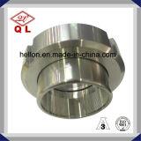 Unión sanitaria de la instalación de tuberías de acero inoxidable de la alta calidad con la tuerca