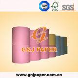 Розовая Uncoated бумага Woodfree с упаковкой крена