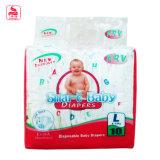 Materia prima del bebé de los pañales respirables secos y cómodos de la nueva llegada
