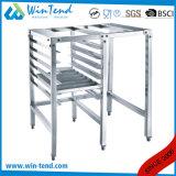 Carrinho duplo profissional customizável da base do assoalho das fileiras para o equipamento da cozinha