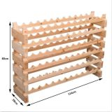 72 Reihe-Regal-Wein-Zahnstangen-Halter-Stellung hält der Flaschen-6 Speichertannen-Holz-Keller an