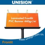 Bandera frontal de PVC con buena resistencia al desgarro