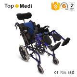 Sedia a rotelle posteriore adagiantesi di Topmedi alta per i bambini di paralisi cerebrale