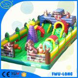 Castelo inflável do parque de diversões de encerado do OEM 0.55 milímetro Pcv