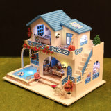 Nueva MOQ bajo Los niños de juguete de madera casa de muñecas DIY Villa