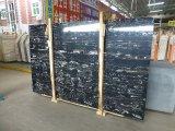 La Cina ha lucidato le mattonelle d'argento nere di pietra naturali del marmo del drago per il pavimento, stanza da bagno