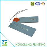 Etiqueta de encargo de la caída del papel de imprenta para la ropa