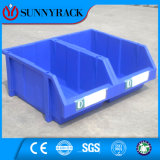 Compartimiento de almacenaje plástico respetuoso del medio ambiente del color azul para la estantería de poca potencia