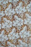 Tela nova do laço do poliéster do projeto com bordado do Floret para o vestuário e a matéria têxtil Home