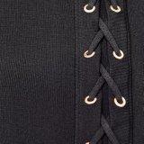 Повелительницы фасонируют шифоновый элегантный повязке типа миниую короткую юбку