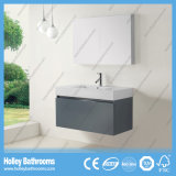 Vanité à haute brillance de salle de bains de peinture avec le tiroir en métal de cheval et le Module de miroir (BF369D)
