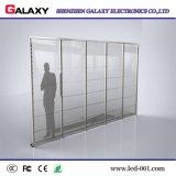 Visualización video transparente/del vidrio a todo color/ventana LED de pared para hacer publicidad
