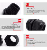Personalizado Mg Tipo 20mm Nylon Plastic Fixed Flameproof Cable Gland