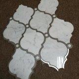 Marmo bianco all'ingrosso delle mattonelle di mosaico di Binano Carrara