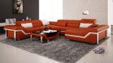 Sofá de couro popular de Blakc Italy para a sala de visitas Home (HC1061)