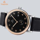 Luxuxmarken-Mann-mechanische Uhr-echtes Leder-wasserdichte beiläufige Armbanduhren für Mann-Sport Relojes 72288