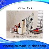 Cremagliera fissata al muro della cucina dell'acciaio inossidabile di alta qualità
