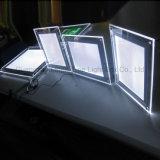 Fotographia di cristallo acrilica della casella chiara del blocco per grafici di alta qualità LED