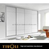 Armadio bianco alto delle inserzioni del guardaroba con i cassetti e le mensole Tivo-0064hw