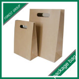 Sacchi di carta riciclati del pacchetto del Brown