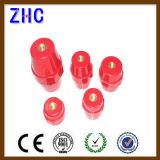 Fabrik-Preis-Inspektions-Serien-rote runde Plastik-Schrauben-Hauptleitungsträger-Isolierung