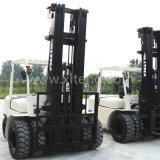 China carretilla elevadora diesel de 5 toneladas con el mástil de los 7m