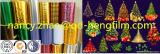 Film coloré en PVC métallisé pour la décoration de Noël