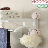 Cremalheira de toalha sanitária da ferragem com o copo da sução do vácuo do ar