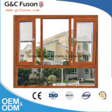 Guichet fixe en aluminium de panneau de Galss de double de modèle de Chambre dans Guangzhou