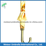 Mercato Beautiful Printing Yellow Flower Umbrella da vendere