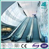Rolltreppe mit HaarstrichEdelstahl und dem 800 Rolltreppe-Schubumkehrgitter