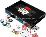 300 chipset composto do póquer da argila do PCS 8-Gram em uma caixa preta da laca