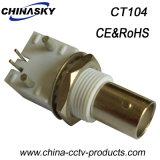 Verbinder des CCTV-Koaxialweibchen-BNC für gedruckte Schaltkarte (CT104)